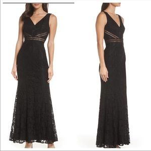 Lulu's Nordstrom My Forever Black Lace Maxi Dress